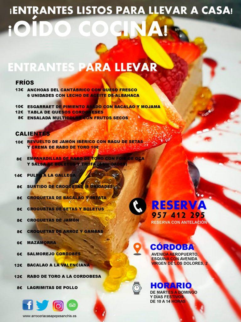 Entrantes para llevar | Restaurante Arrocería Casa Pepe Sanchís